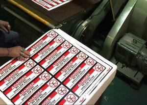 Screen printed vinyl decals