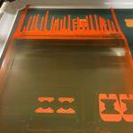 Behind the Scenes: custom ink application while screen printing custom decals