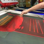 Behind the Scenes: custom ink application while screen printing custom decals