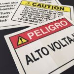 Durable screen-printed, laminated custom danger decals