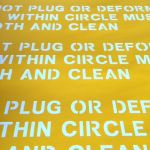 Removable low-tac stencil