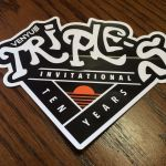 Screen-printed, die-cut custom decal for product branding and identification
