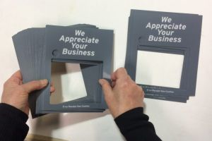 Each of our custom-printed polycarbonate overlays is hand inspected to assure they are delivered to you in perfect condition.